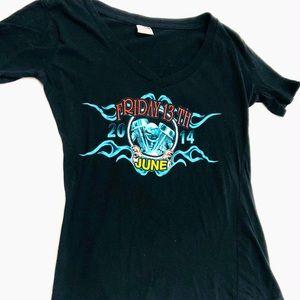 Biker T-shirt Black Graphic Tee Motorcycle Shirt